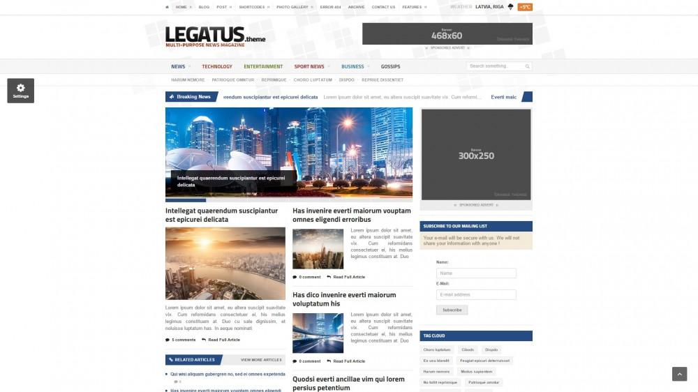 Legatus - Political Newspaper WordPress Theme