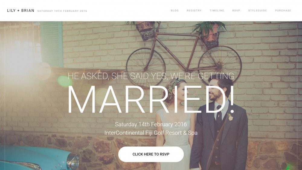 Lily - A Unique & Modern WordPress Wedding Theme
