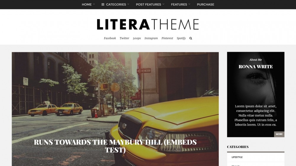 Litera - Elegant Personal Blog Theme