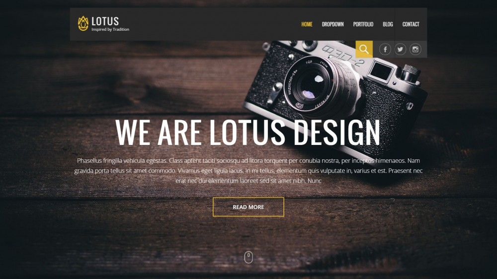 Lotus - Creative WordPress Theme