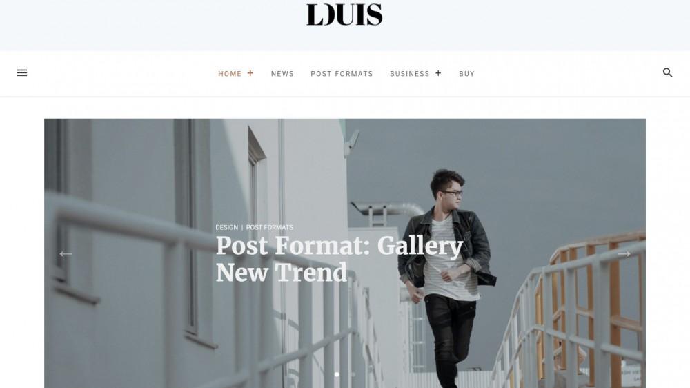 Louis - Modern & Simple WordPress Blog/Magazine Theme