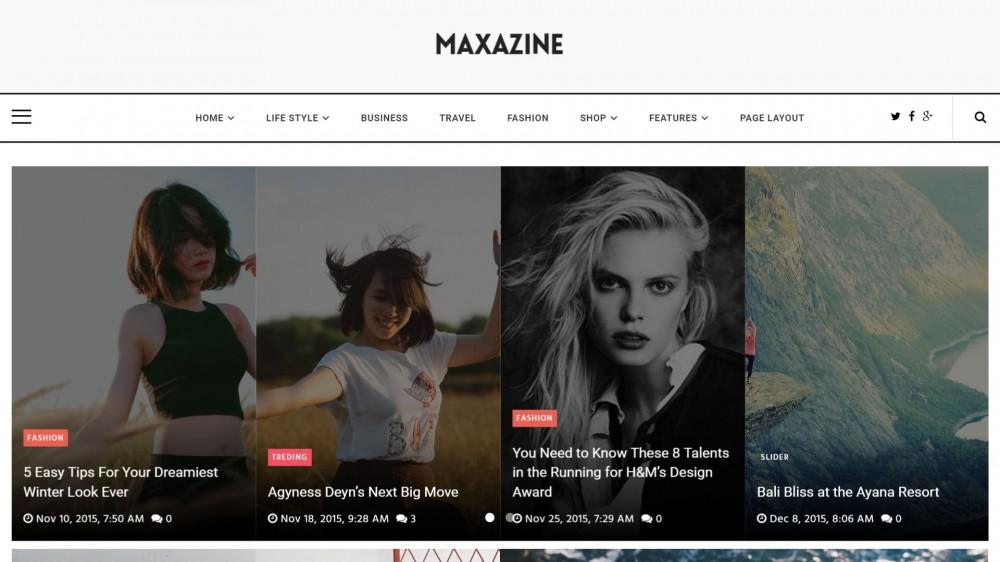 Maxazine - News, Magazine WordPress Theme