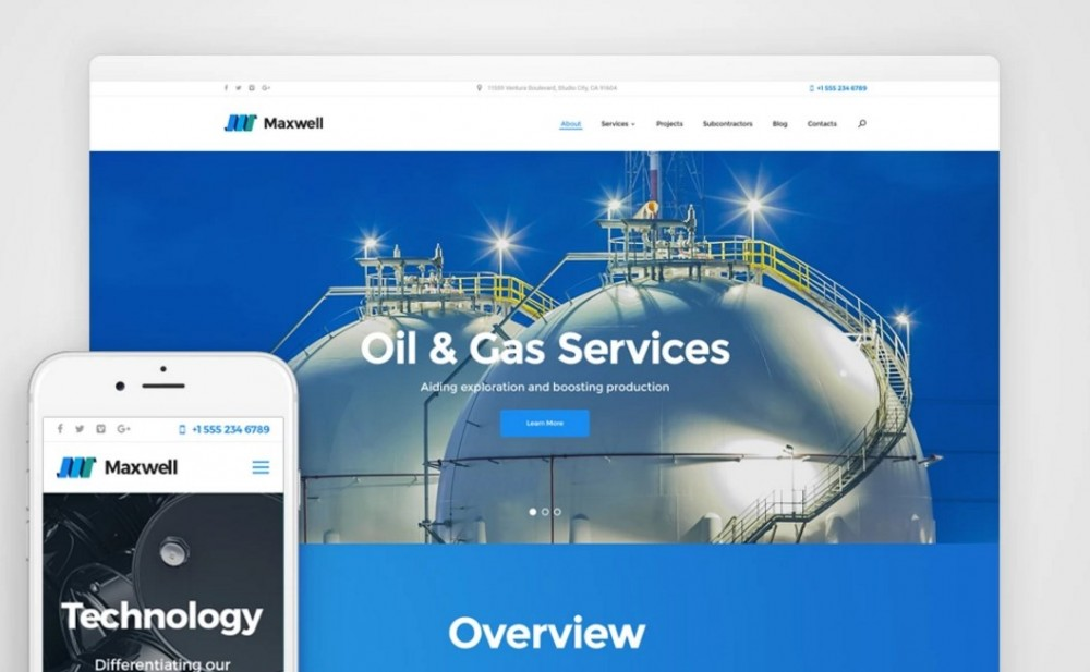 Maxwell – Stylish Oil & Gas Company WordPress Theme