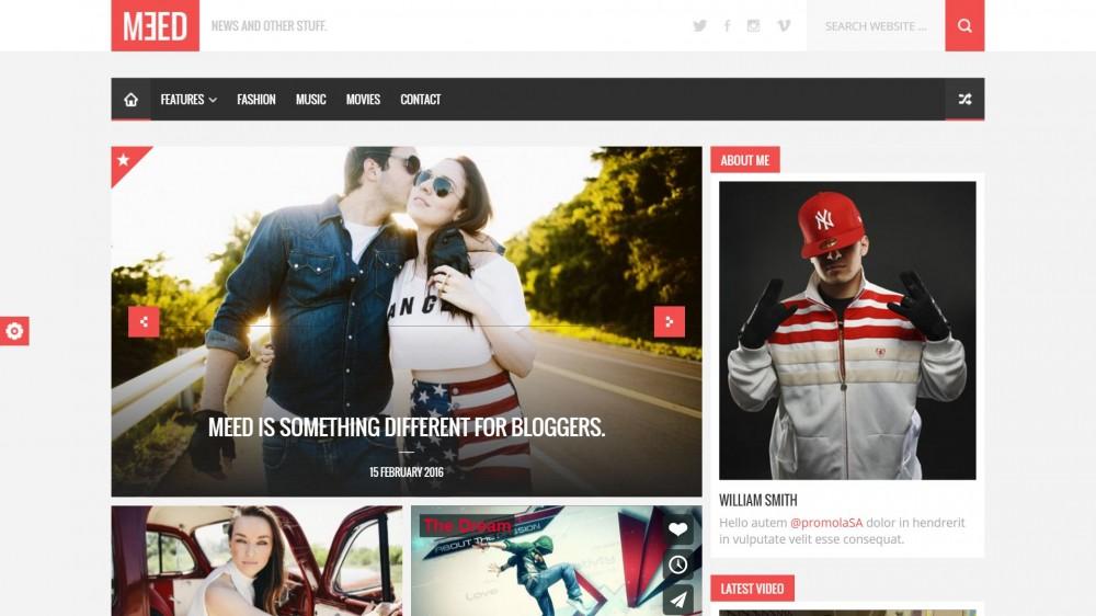 Meed - Multipurpose WordPress Blog Theme