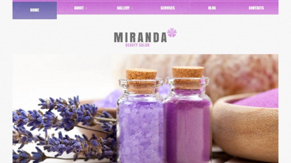 Miranda – Beauty Salon Responsive WordPress Theme