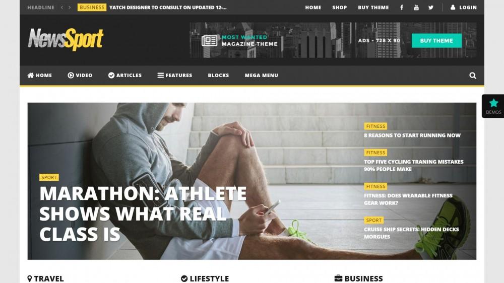 NewsTube - Magazine WordPress Theme