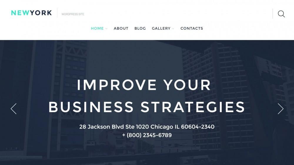 NewYork - Business Responsive WordPress Theme