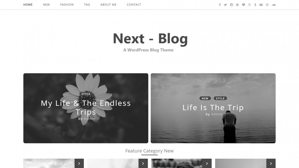 Next Blog - WordPress Technology Blog Theme