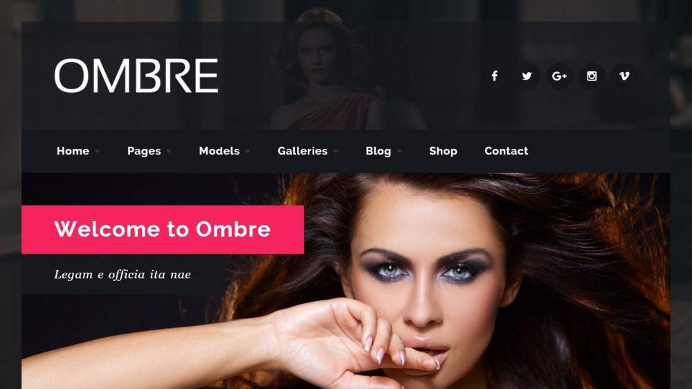 OMBRE - Dark Style Beauty Salon WordPress Theme