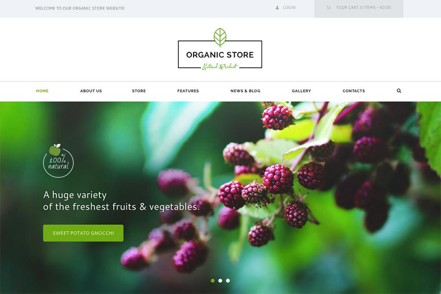 Organic Store - Organic Food & Eco Products WordPress Theme