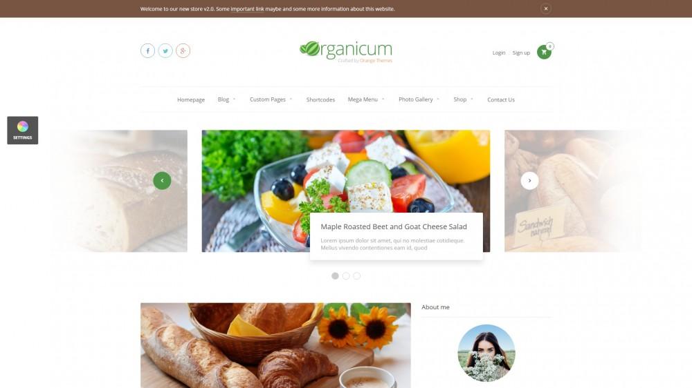 Organicum WooCommerce Theme
