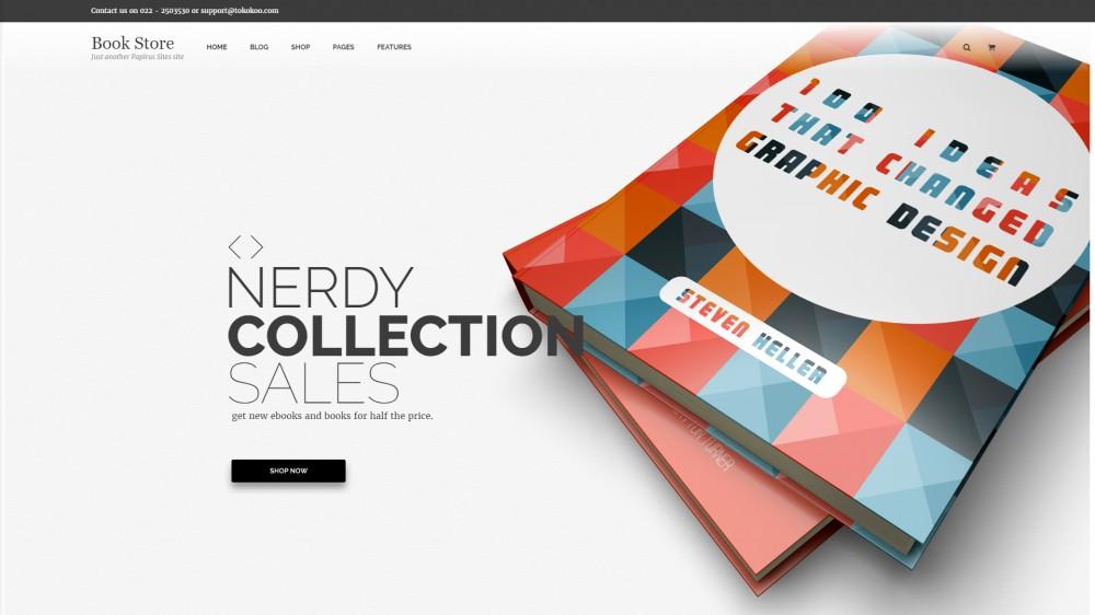 Papirus - Bookstore WordPress theme