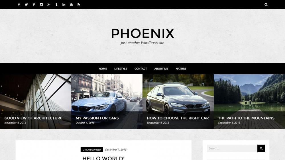 Phoenix - Simple WordPress Blog Theme