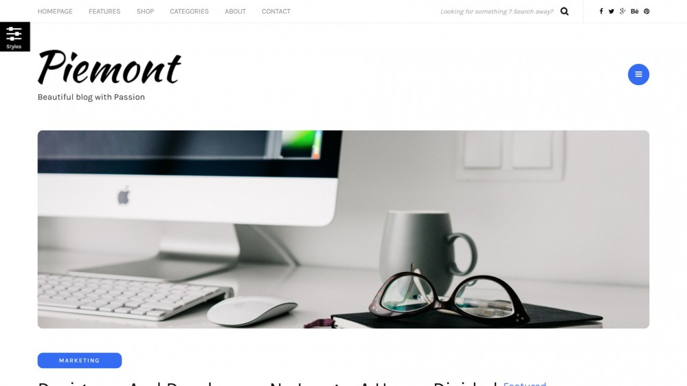 Piemont - Responsive WordPress Blog Theme For Tech Bloggers