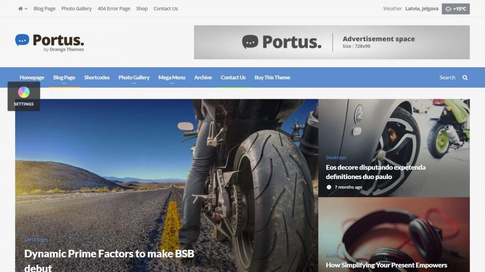 Portus - Newspaper WordPress Theme