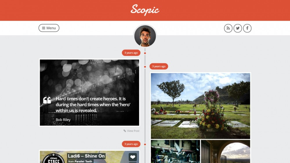 Scopic - A Creative Personal Timeline Tumblog