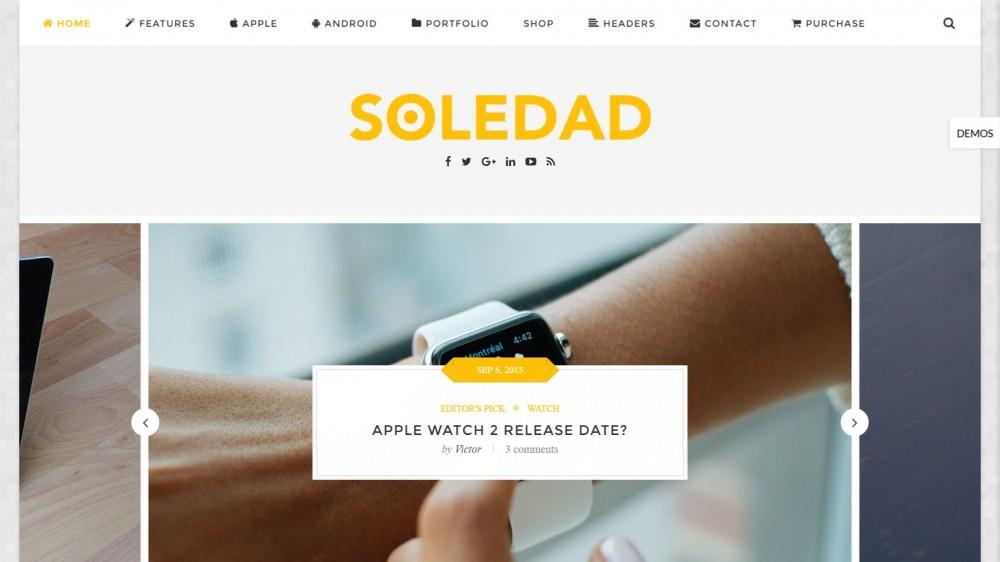 Soledad - Multi - Concept Blog/Magazine WordPress Theme