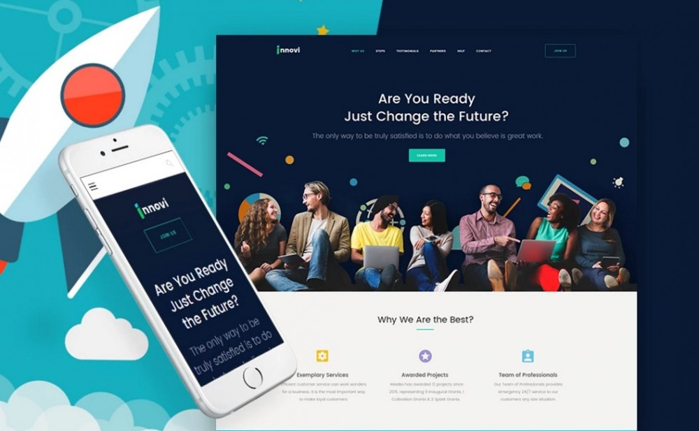 Startup & Creative Digital Agency Unique WordPress Theme