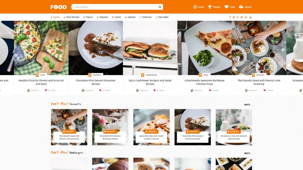 20 best recipe wordpress themes for sharing food and culinary recipes if youd prefer writing about food collecting information and sharing it because of the people tasty food is the right recipe wordpress theme for your forumfinder Gallery