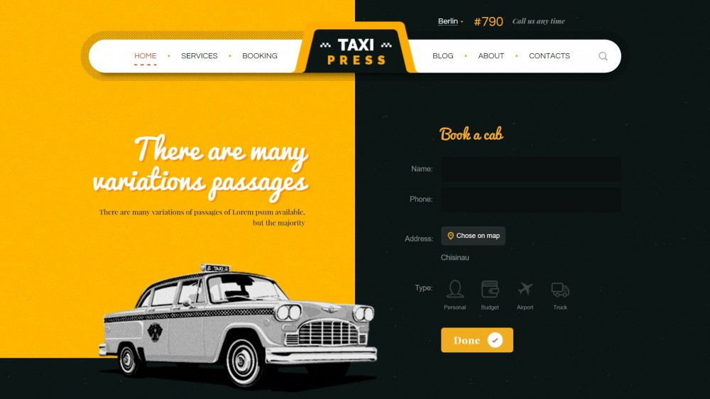 25+ Premium WordPress Themes for Taxi and Car Rental Business Websites
