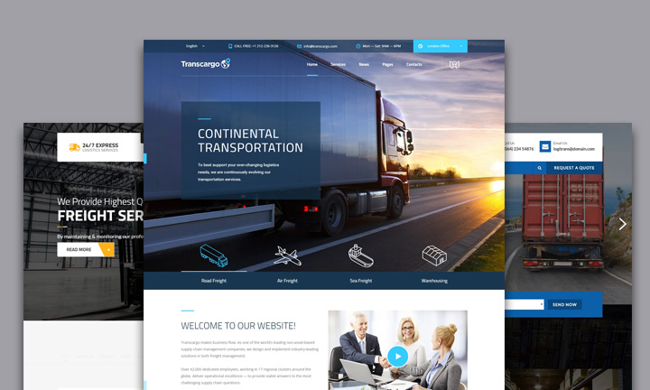 40 most sophisticated logistic transport companies wordpress themes