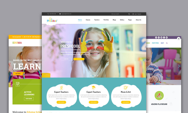 25+ Colorful, lovely & youthful WordPress themes for kindergartens, childcare centers & preschools