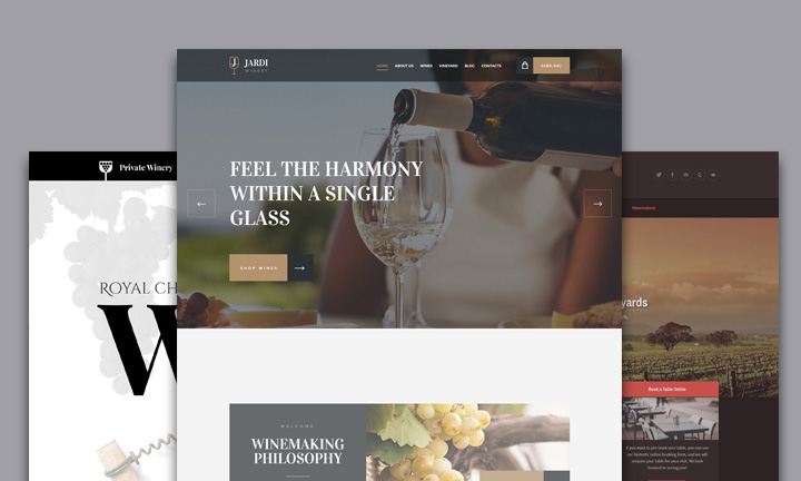 30+ Delicious WordPress Themes for Winery, Wine shop or Wine Restaurants