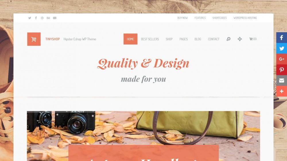 TinyShop - WordPress E-shop & Blog Theme