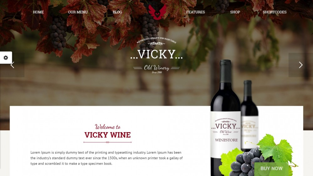 30 delicious wordpress themes for winery wine shop or wine beautiful theme specially designed for cafe restaurant vine web sites vicky is a fully responsive theme developed by the latest web technology and comes pronofoot35fo Gallery
