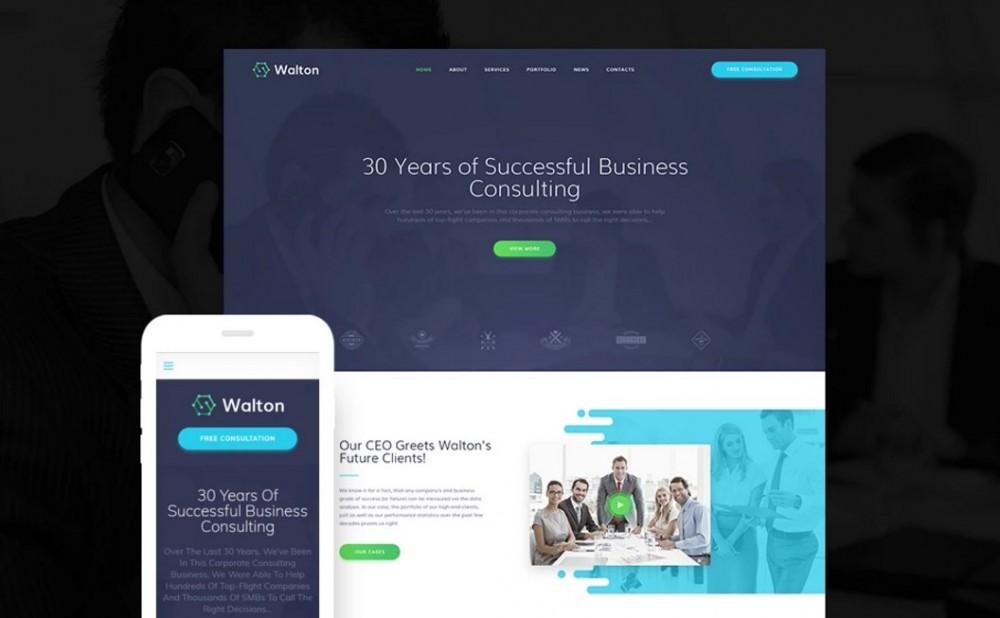 Walton – Comfortable Finance & Consulting Corporate WordPress Theme