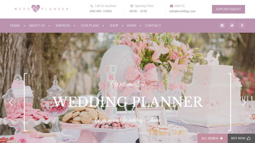 Wedding Industry - Multipurpose WordPress Theme For Wedding