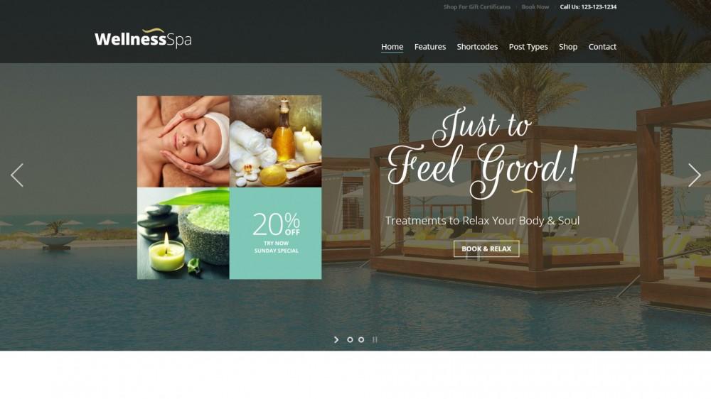 Wellness SPA - Multipurpose SPA & Beauty Salon WordPress Theme