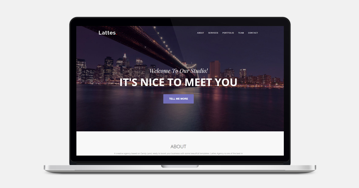 FREE OnePage Bootstrap Template