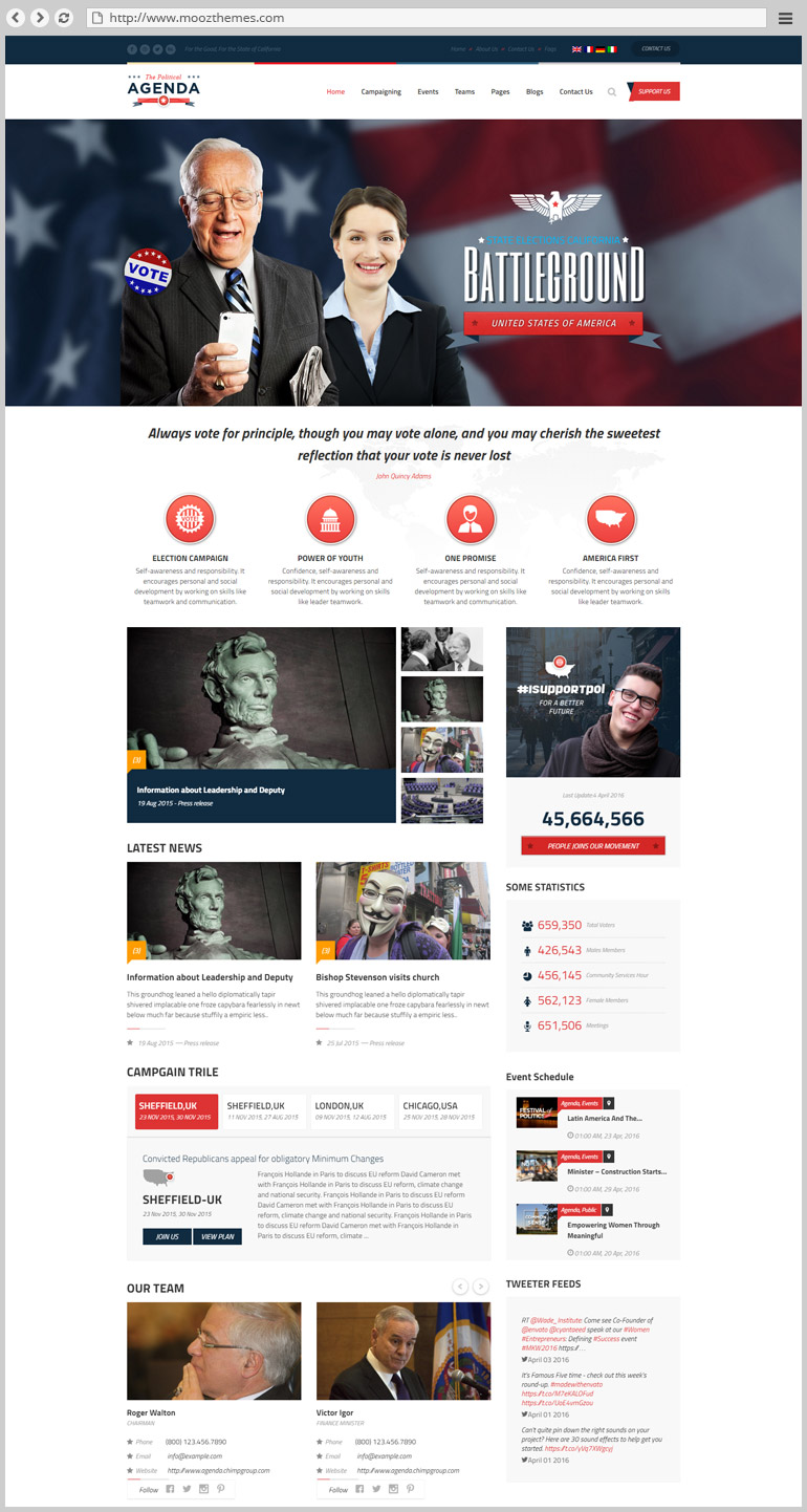 Best Political Wordpress Themes For Candidates Elections And