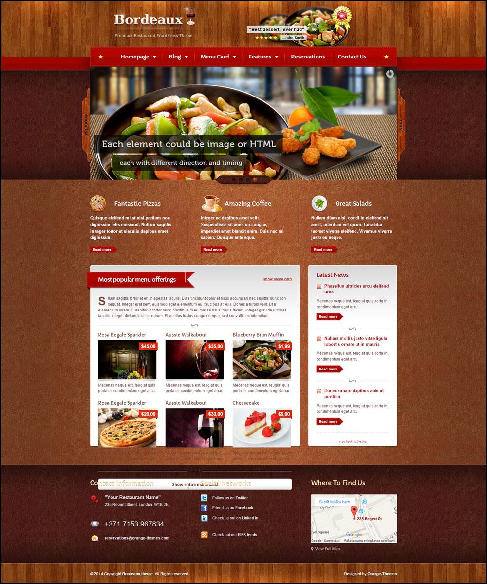 20 Best Restaurant WordPress Themes 2019