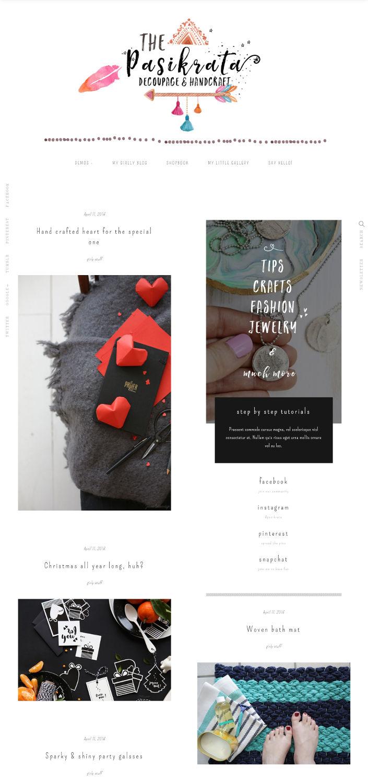 25 Gorgeous Wordpress Themes For Art Craft Blogs