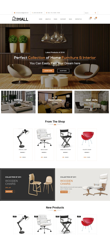 Modern Interior & Furniture Woocommerce WordPress Themes