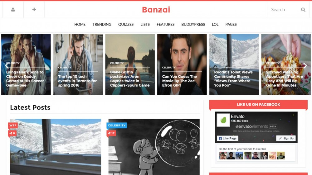 Banzai - Viral & Buzz WordPress Theme