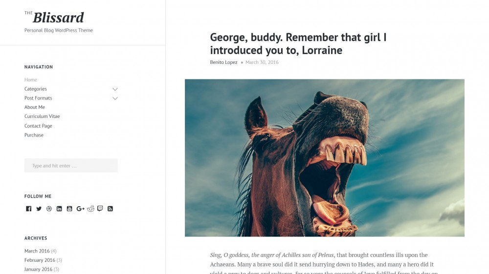 Blissard - Creative Theme For Gossip Bloggers