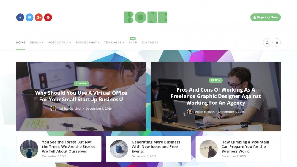 Bone - Clean Design Blog Theme