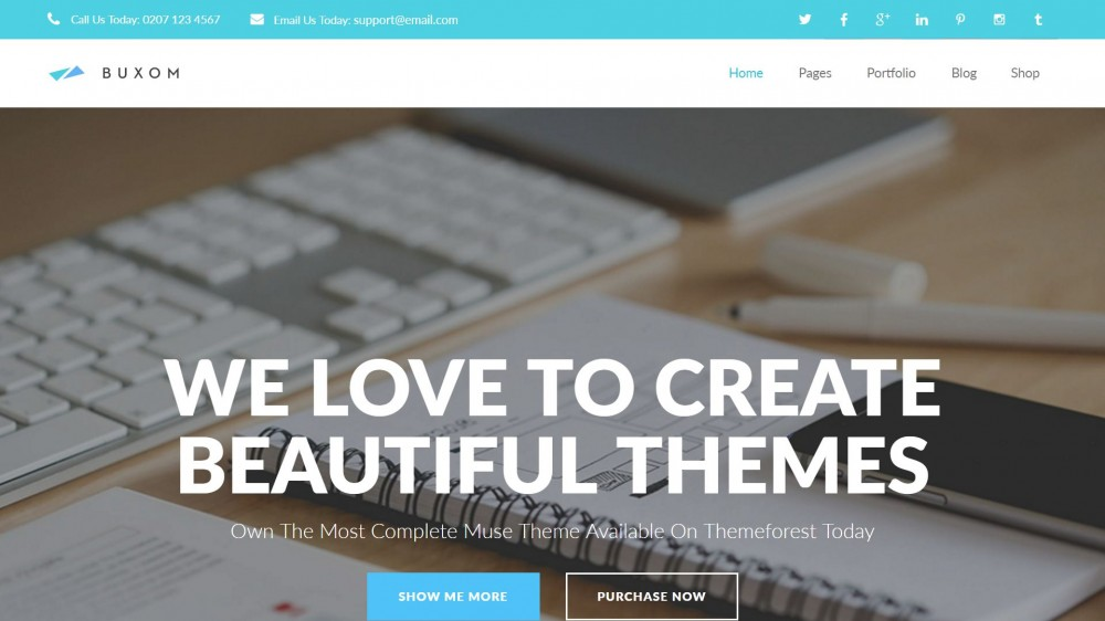 25 best creative business portfolio adobe muse templates buxom is one of the best fully responsive multi purpose adobe muse template only available on themeforest marketplace its so easy to customize maxwellsz