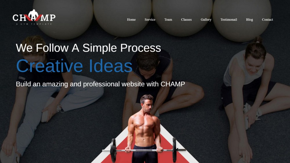 Champ - Gym & Fitness WordPress Theme