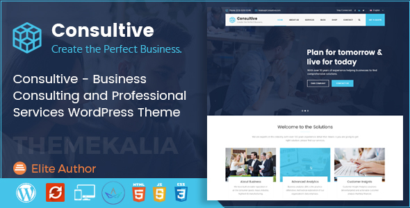 Consultive | Business Consulting and Professional Services WordPress Theme