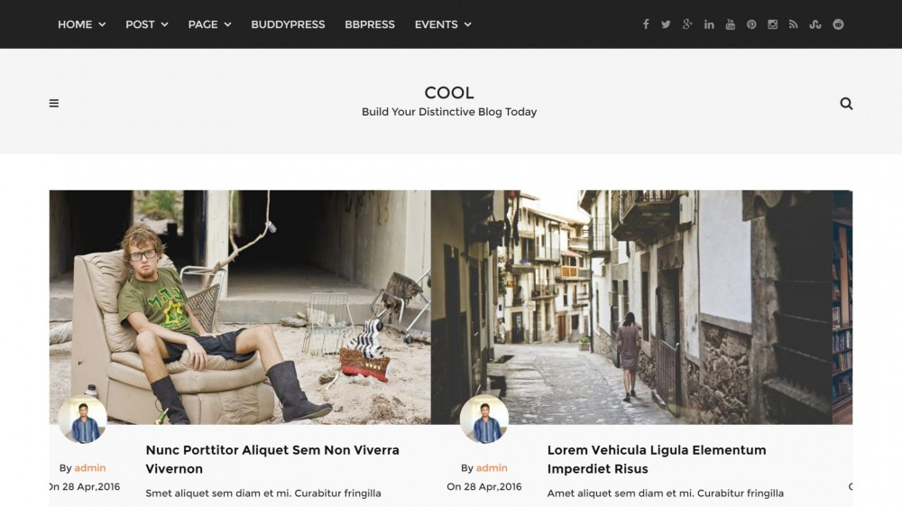 Cool - Responsive WordPress Blog theme