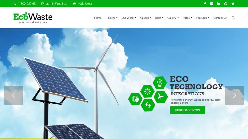 30+ Green Solar & Renewable Energy WordPress Themes