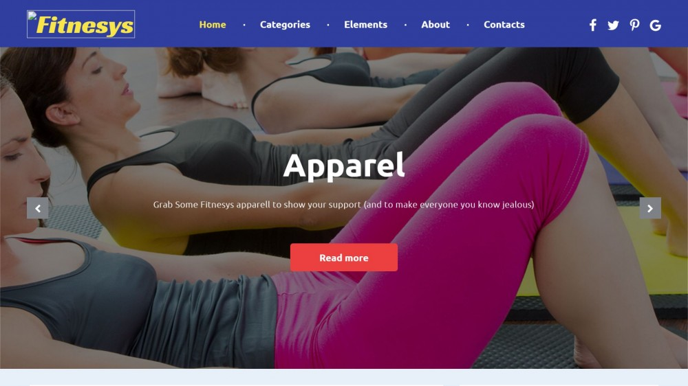 Fitnesys – Fitness Blog WordPress Theme