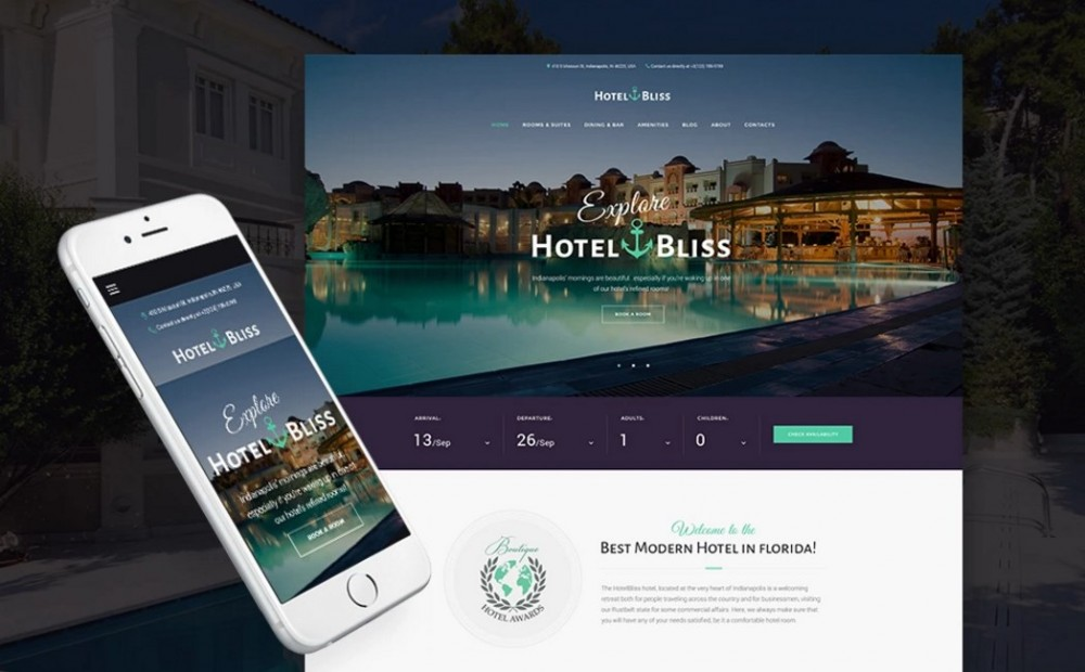 HotelBliss – Soft and Powerful Spa & Resort Hotel WordPress Theme