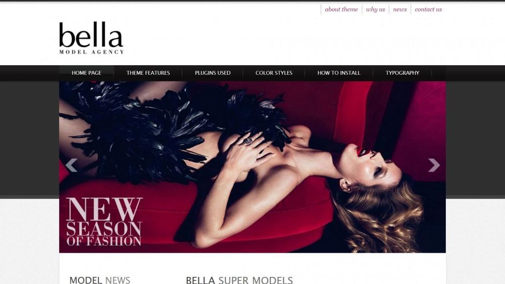 20+ Elegant Model Photo Portfolio & Model Agency WordPress Themes