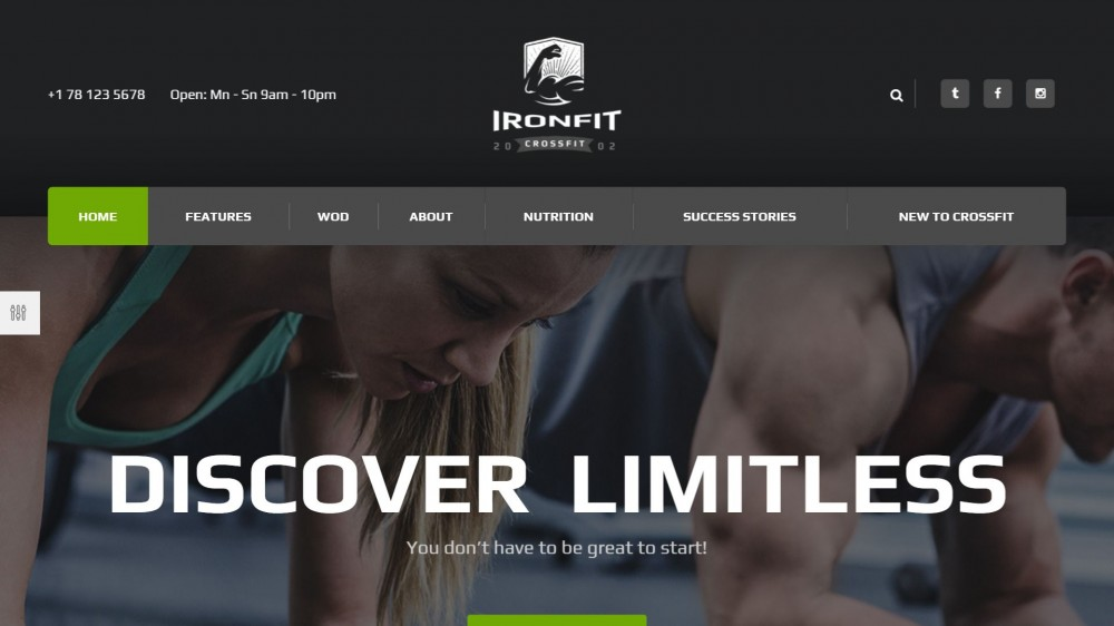 Ironfit - Fitness, Sport & Crossfit WordPress Theme