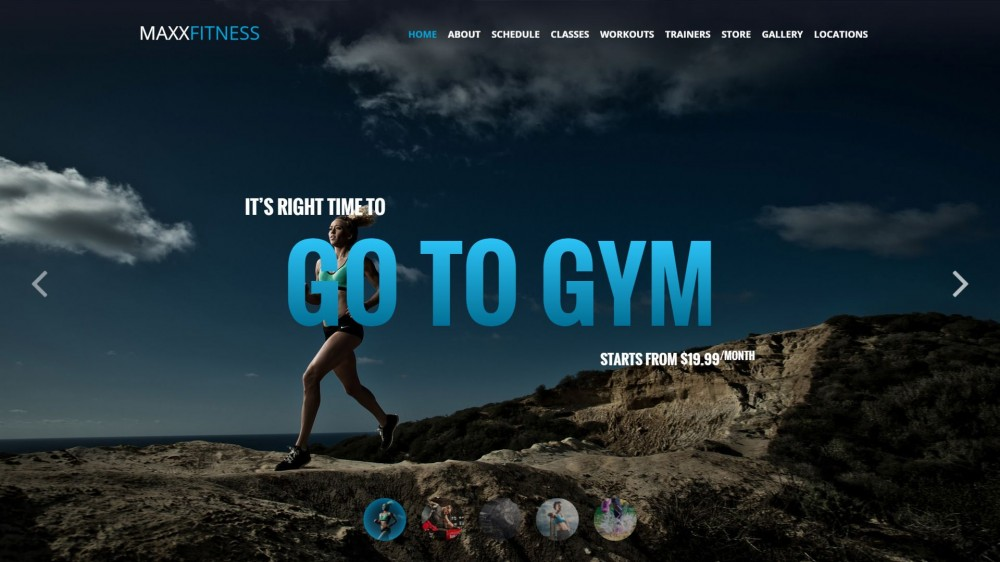 Maxx Fitness - Responsive WordPress Theme